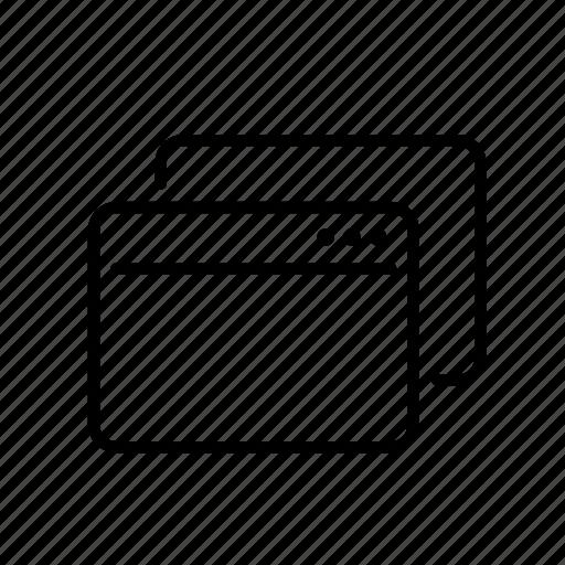 interface, modal, program, ui, window icon