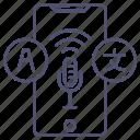 microphone, speak, translate icon