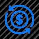 bank, banking, cash, conversion, money icon