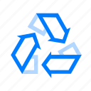 recycle, recycling, trash icon
