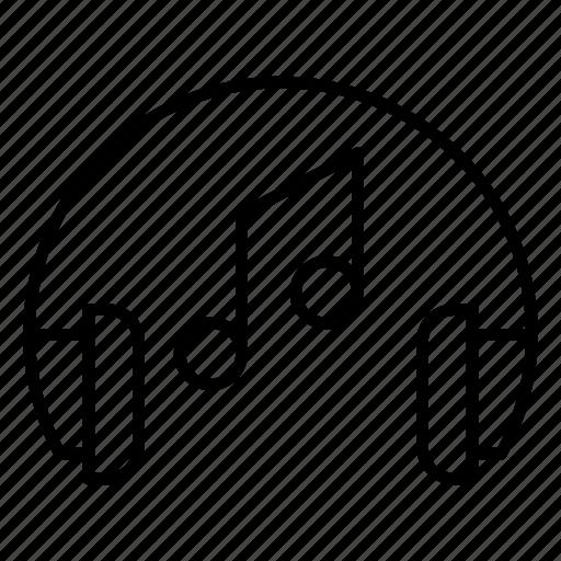 headphones, listening, medicine, rhythm, voice icon