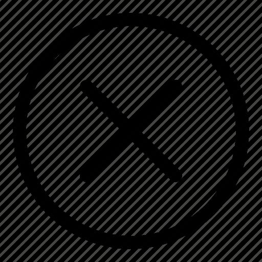 closed, delete, exit, remove icon