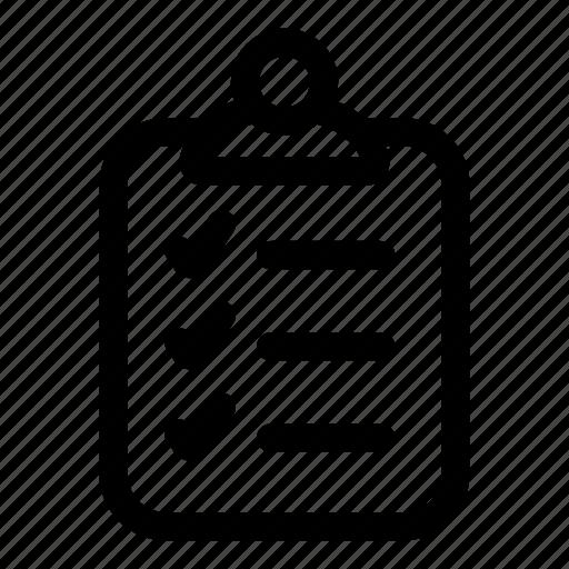 checklist, clipboard, list, tasks icon
