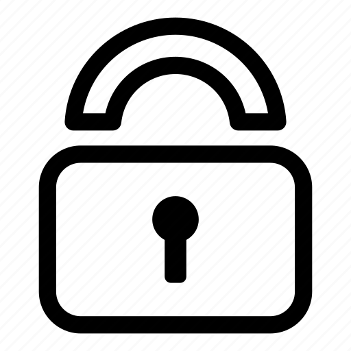 access, key, lock, protection, secure, unlock icon