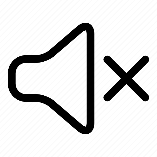 mute, muted, sound, speaker, volume icon