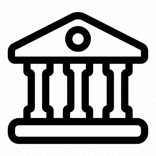 bank, building, estate, house, museum, office icon