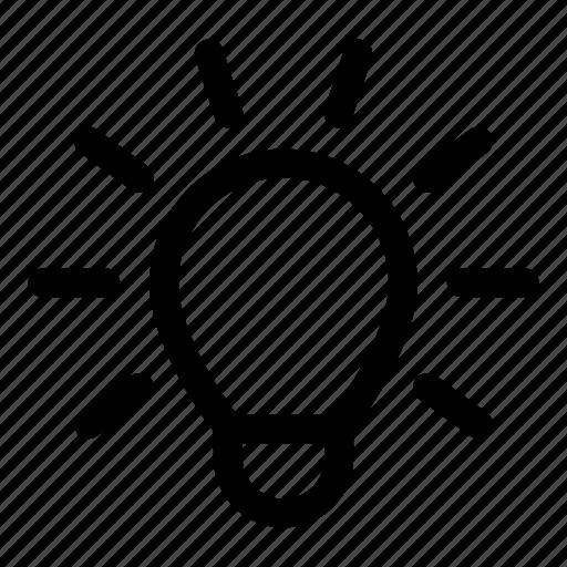 bulb, creative, creativity, idea, light icon