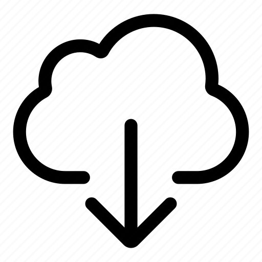 cloud, disk, download, forecast, save, storage icon