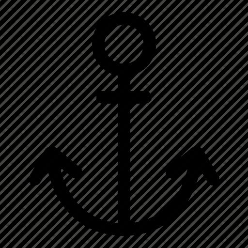 anchor, boat, marine, nautical, sailor, sea, ship icon