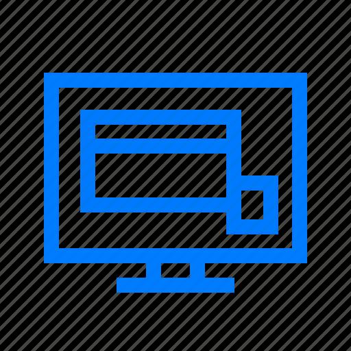 computer, desktop, monitor, pc, screen, web icon
