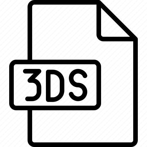 3ds, document, extension, file, format icon