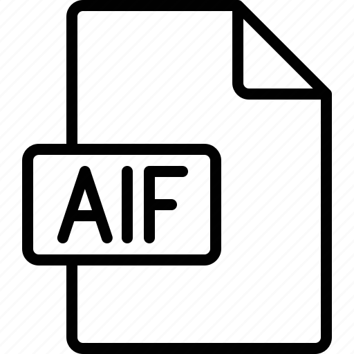 aif, document, extension, file, format icon