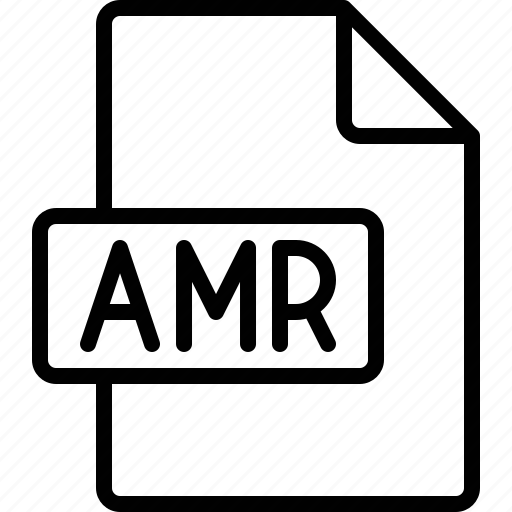 amr, document, extension, file, format icon