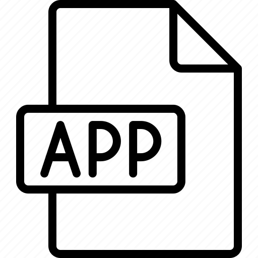 app, document, extension, file, format icon