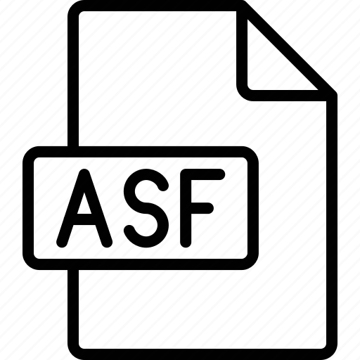 asf, document, extension, file, format icon