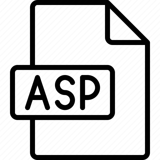 asp, document, extension, file, format icon