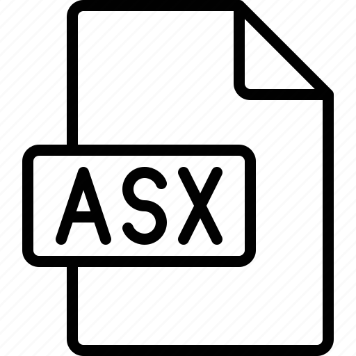 asx, document, extension, file, format icon