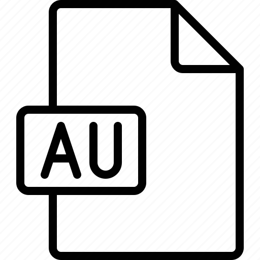 au, document, extension, file, format icon