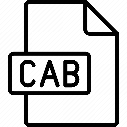 cab, document, extension, file, format icon