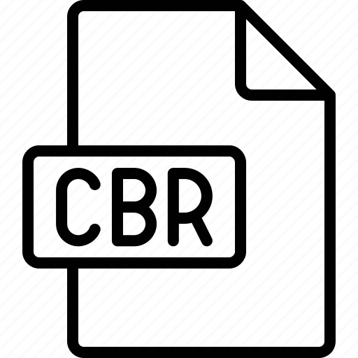 cbr, document, extension, file, format icon