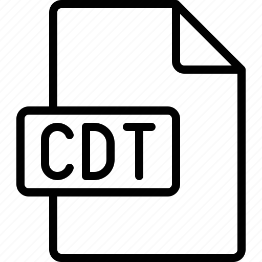 cdt, document, extension, file, format icon
