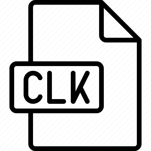 clk, document, extension, file, format icon