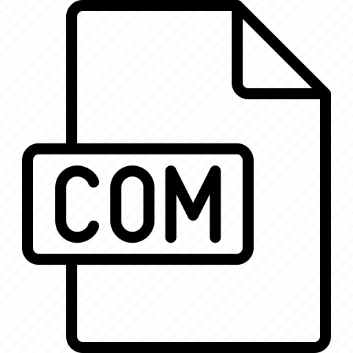 com, document, extension, file, format icon