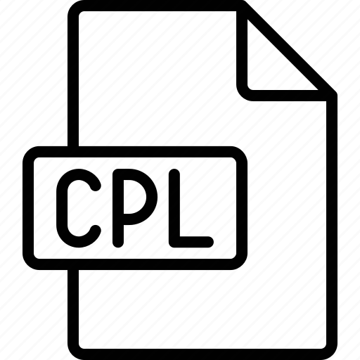 cpl, document, extension, file, format icon