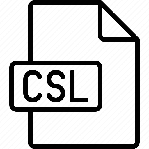 csl, document, extension, file, format icon