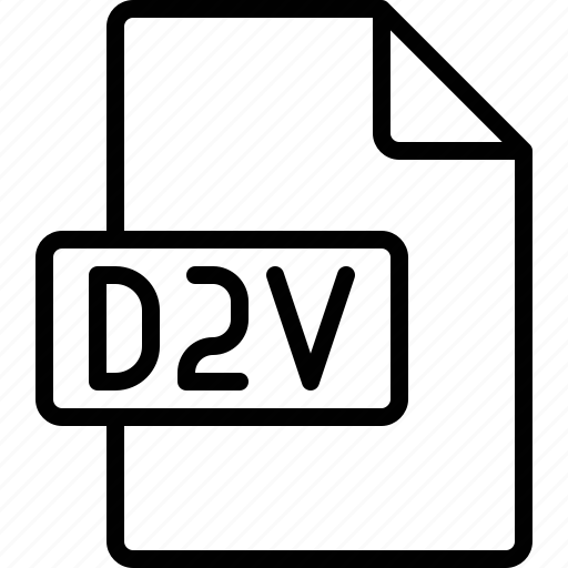 d2v, document, extension, file, format icon