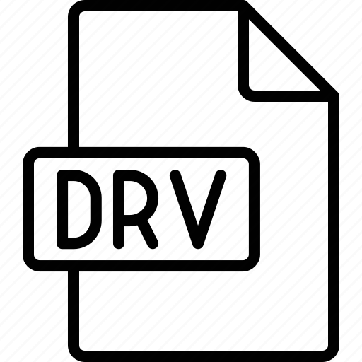 document, drv, extension, file, format icon