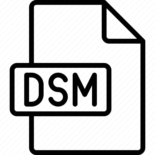 document, dsm, extension, file, format icon