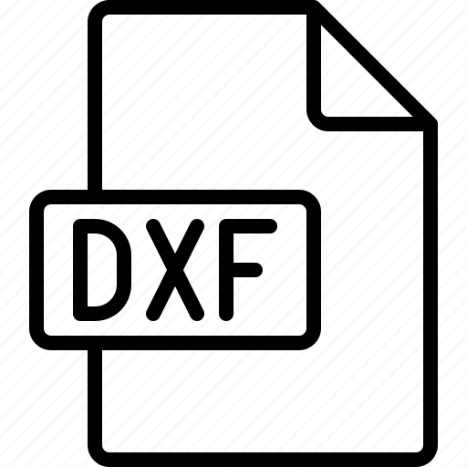 Dxf, file, document, extension, format icon