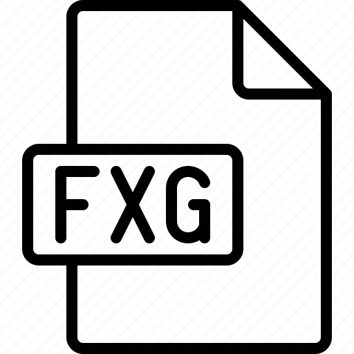 document, extension, file, format, fxg icon