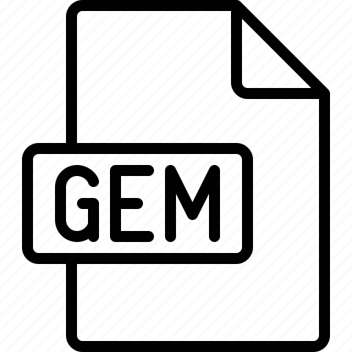 document, extension, file, format, gem icon