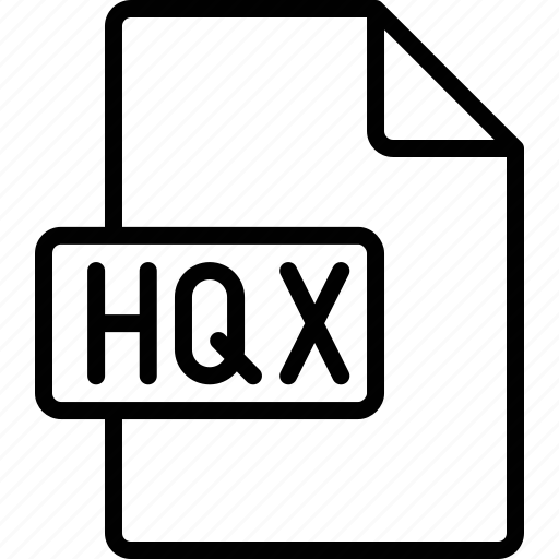 document, extension, file, format, hqx icon