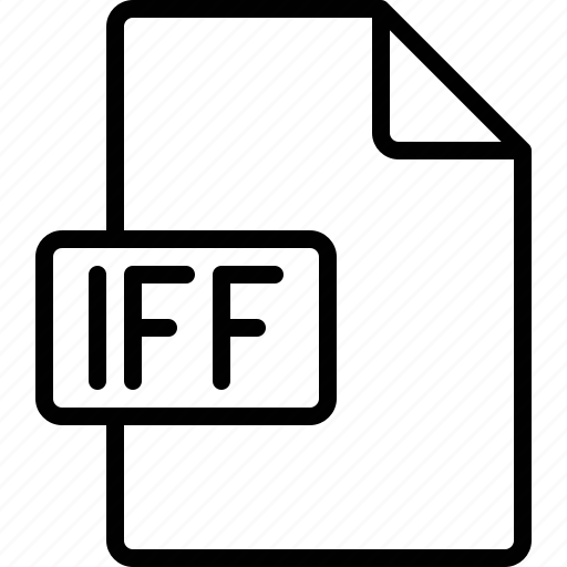 document, extension, file, format, iff icon