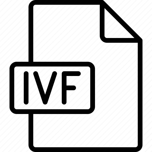 document, extension, file, format, ivf icon