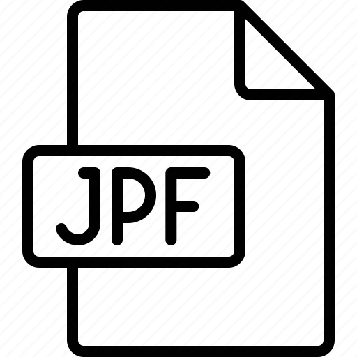 document, extension, file, format, jpf icon