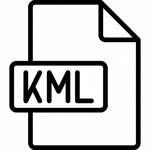 document, extension, file, format, kml icon