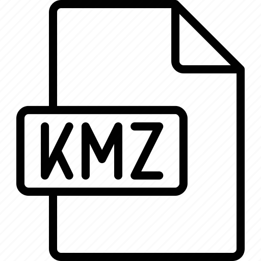 document, extension, file, format, kmz icon