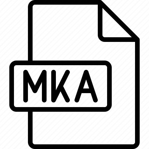 document, extension, file, format, mka icon