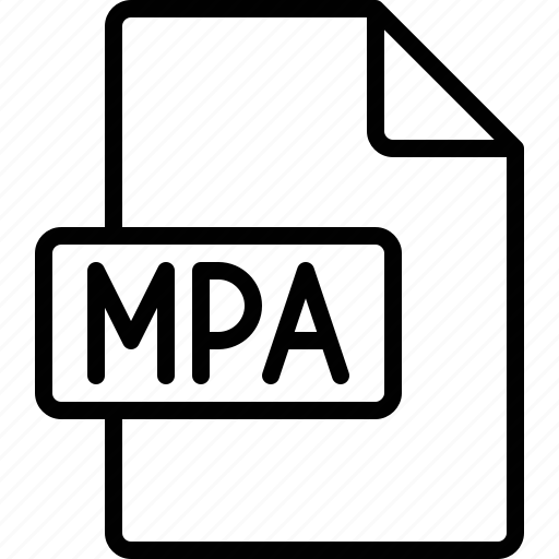 document, extension, file, format, mpa icon