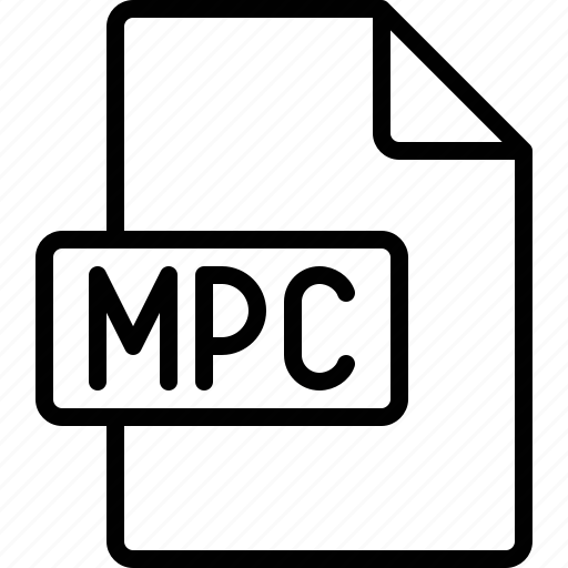 document, extension, file, format, mpc icon