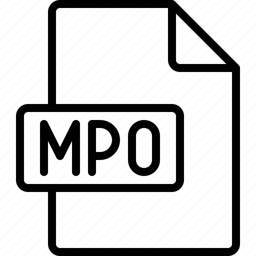 document, extension, file, format, mpo icon