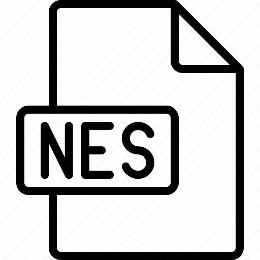document, extension, file, format, nes icon