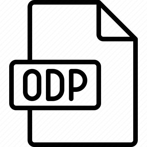 document, extension, file, format, odp icon