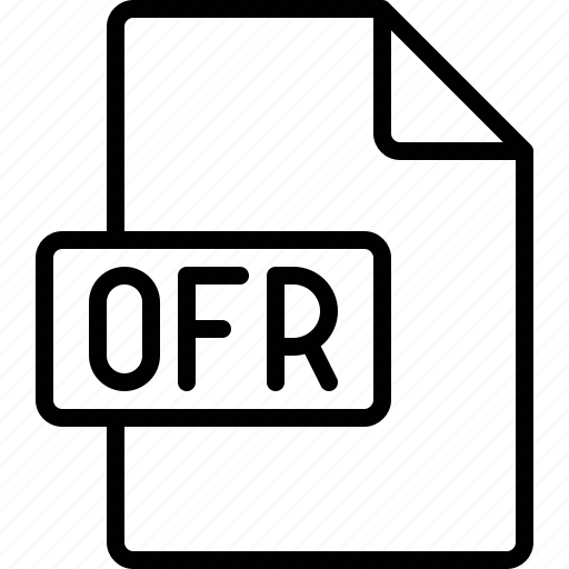 document, extension, file, format, ofr icon