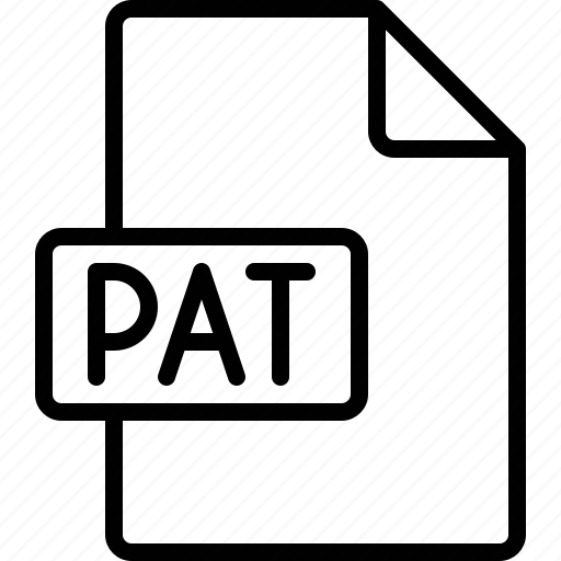 document, extension, file, format, pat icon