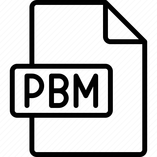 document, extension, file, format, pbm icon